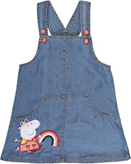 1a3944518186b Peppa Pig On Clouds with Rainbow Blue Dress | Pinafore | Dungaree for Girls