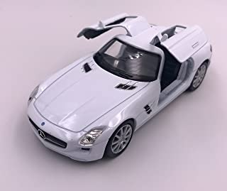 lizensiert Modellauto Mercedes Benz SLS AMG Weiss  Auto Maßstab 1:34-39