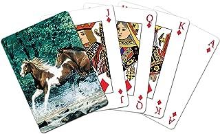 Tree-Free Greetings Standard Playing Card Deck, Spring Creek Run Themed Horse Lovers Art (49525)