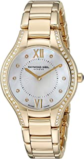 Women's 5132-PS-00985 Noemia Analog Display Swiss Quartz Gold Watch