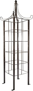 H Potter Trellis Obelisk for Climbing Plant Large Garden Wrought Iron Ornamental for Patio Deck