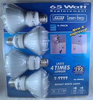 4 Pack, Feit Electric R30 Reflector 65W Replacement Bulb, Uses 15W