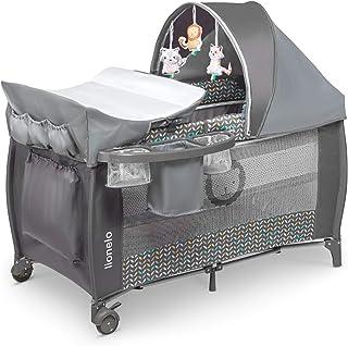 Lionelo Sven Plus boîte 2 en 1 lit bébé lit bébé table à langer jouets baldaquin..