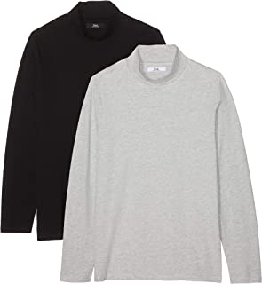 Amazon Brand - find. Men's Long Sleeve Cotton Turtleneck, Pack of 2
