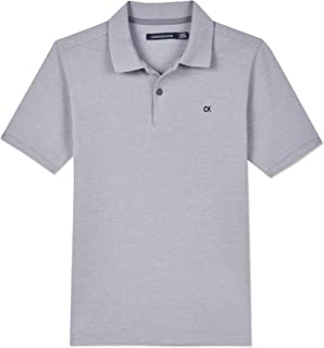 Calvin Klein Boys' Short Sleeve Pique Polo