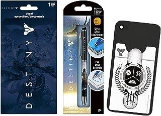 Destiny Video Game Party Favors Bundle - 3 Pc Destiny Party Supplies Destiny Decal Sticker, Destiny Wallet for Phones, Des...