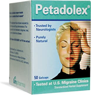 Petadolex 50 mg Patented PA-Free Butterbur Root Extract - 1 Bottle