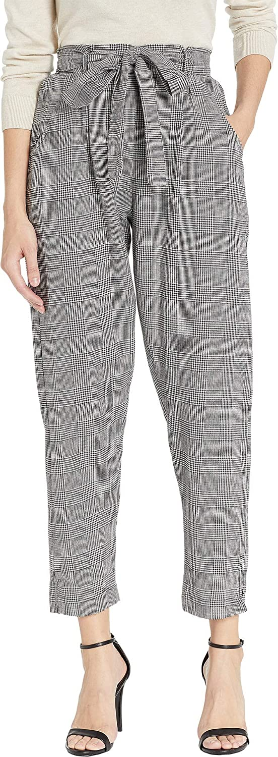 Angie Womens Paperbag Tie Waist Pants