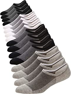 6-8 Pack Mens No Show Socks Casual Low Cut Thin Loafers Non Slip Boat Liners