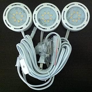LEDP3120WH - 120V Direct LED Puck 3 Light Kit-White
