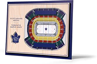 "NHL Toronto Maple Leafs Unisex 5 Layer StadiumViews 3D Wall Art, Team Colors, 17"" x 13"""