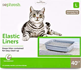 So Phresh Elastic Cat Litter Pan Liners