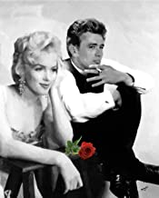 3D Wall Art 11 x 14 On Metal Marilyn Monroe James Dean with Rose