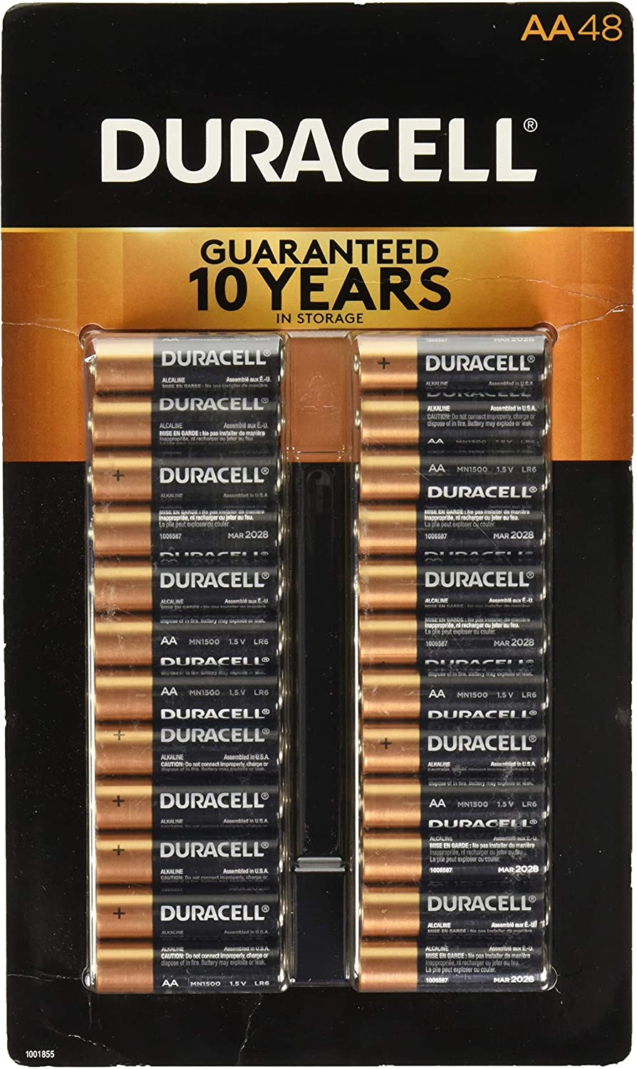 Duracell Coppertop Alkaline-Manganese Chicago Award Mall Dioxide 1.5V AA Battery