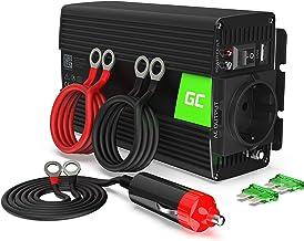 Green Cell® 500W/1000W DC 24V AC 220V Onda sinusoidal modificada Inversor de Corriente Power Inverter, Transformador de Voltaje para Camion con Puerto USB y Pinzas de conexión a batería