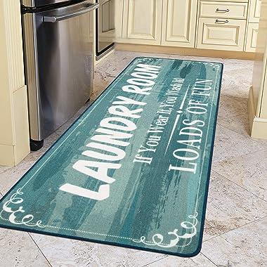 HEBE Farmhouse Laundry Runner Rug 2'x6' Washable Non Slip Kitchen Rugs Runner Extra Long Rug Runner Floor Carpet for