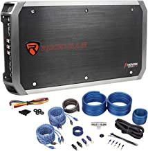 Rockville RXA-F2 2400 Watt Peak/1200w RMS 4 Channel Car Stereo Amplifier+Amp Kit