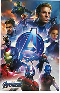 Avengers Birthday Card - Ideal Gift Card for Him - Avengers Endgame - Avengers Featuring Captain Marvel, Iron Man, Thor, Hulk, Black Widow, Captain America, Rocket, Ant Man - Marvel