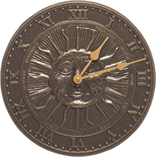Whitehall Products Sunface Clock, French Bronze