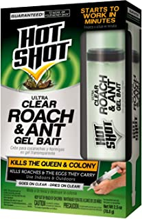 Hot Shot Ultra Clear Roach & Ant Gel Bait, 1-Count, 6-Pack