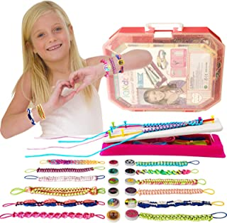 IQKidz Friendship Bracelet Maker Kit - Making Bracelets Craft Toys for Girls Age 8 - 12 yrs, Cool Birthday Gifts for 7, 9,...