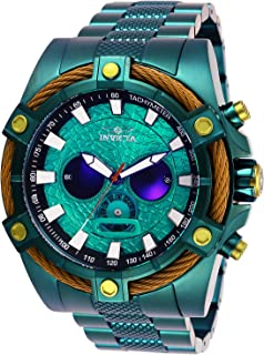 Invicta Men's 'Star Wars' Quartz Stainless Steel Watch, Color:Green (Model: 27236)