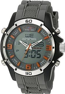 Sport Men's Quartz Metal and Rubber Casual Watch,...