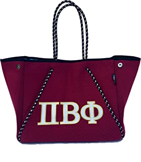 Pi Beta Phi Sorority Fraternity Neoprene Tote Bags Purses Totes Fall School Overnight Gym Studio Office Travel Beach Mount...