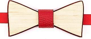 Ovi Watch - Rojo Pajaritas de Madera - Accesorios para Traje de Fiesta, Ceremonia y Bodas