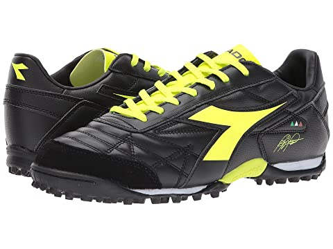 Diadora M Winner RB LT TF Black/Yellow Flourescent Choose Size 8900830 IVEOOlEp