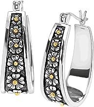 Silpada 'Primavera' Daisy Hoop Earrings in Sterling Silver & 14K Gold Plate