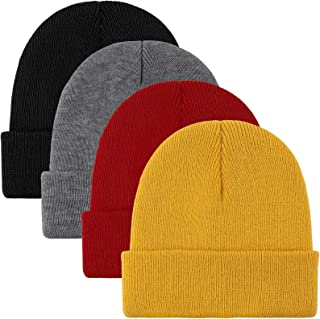 Sponsored Ad - Cooraby Beanie Cap Winter Warm Hats Soft Knit Beanie for Men or Women