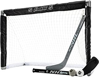 Franklin Sports Knee Hockey Set - Includes 1 Mini Hockey Goal - 2 Mini Hockey Sticks and 2 Foam Balls - NHL - Indoor Kids Hockey Goal and Sticks Set