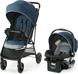 Graco NimbleLite Travel System | Includes Lightweight Stroller and SnugRide 35 Lite Infant Car Seat, Parent Storage, Compact Fold | Lightweight Stroller Under 15 Pounds, Belgrade
