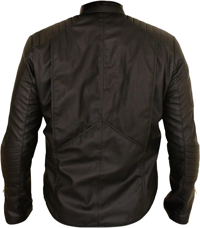 Star Cosplay Bat with Logo Begins Black Costume Jacket