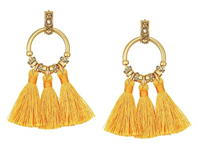 J.Crew Tiki Tassel Earrings (Rusted Amber) Earring