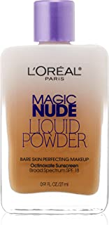 L'Oreal Paris Magic Nude Liquid Powder Bare Skin Perfecting Makeup SPF 18, Sun Beige, 0.91 Ounces