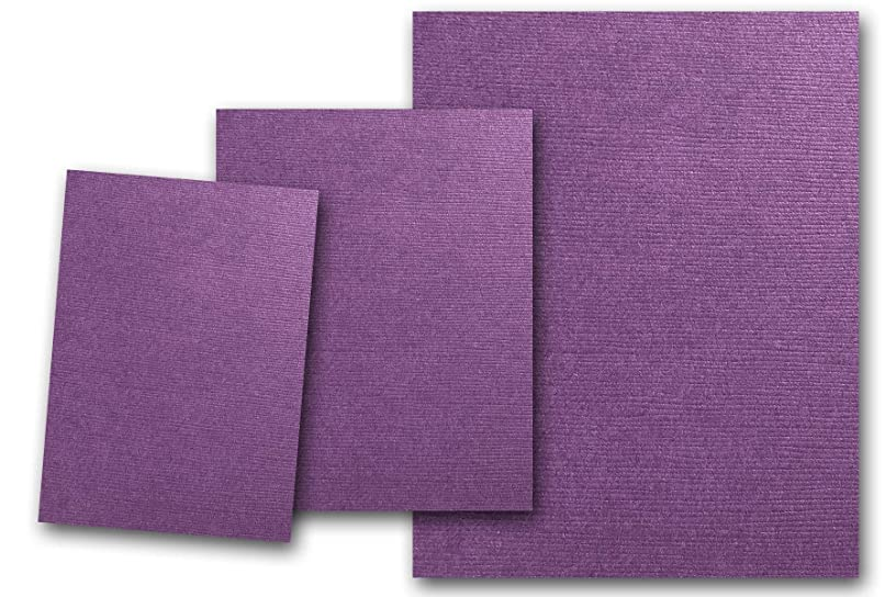 Premium DCS Canvas Textured Plum Purple Card Stock 20 Sheets - Matches Martha Stewart Plum - Great for Scrapbooking, Crafts, DIY Projects, Etc. (8.5 x 11)
