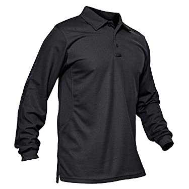 MAGCOMSEN Men's Polo Shirt Quick Dry Performance Long and Short Sleeve Tactical Shirts Pique Jersey Golf Shirt