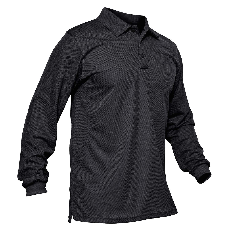MAGCOMSEN Men's Polo Shirt Quick Dry Performance Long and Short Sleeve Tactical Shirts Pique Jersey Golf Shirt