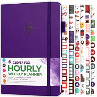 $22 » Sponsored Ad - Clever Fox Planner Schedule – Weekly & Monthly Life Planner with Time Slots, Appointment book, and Daily Or...