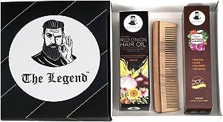 The Legend Hair Care Onion Shampoo, Onion Oil & Neem Wood Comb (Combo Of 3)