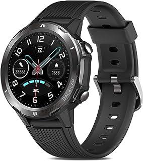 Reloj Inteligente Hombre, GRDE Smartwatch Mujer Redondo 12 Modo Deportivo con (Monitor de Ritmo Cardíaco/Sueño/Calorías) R...