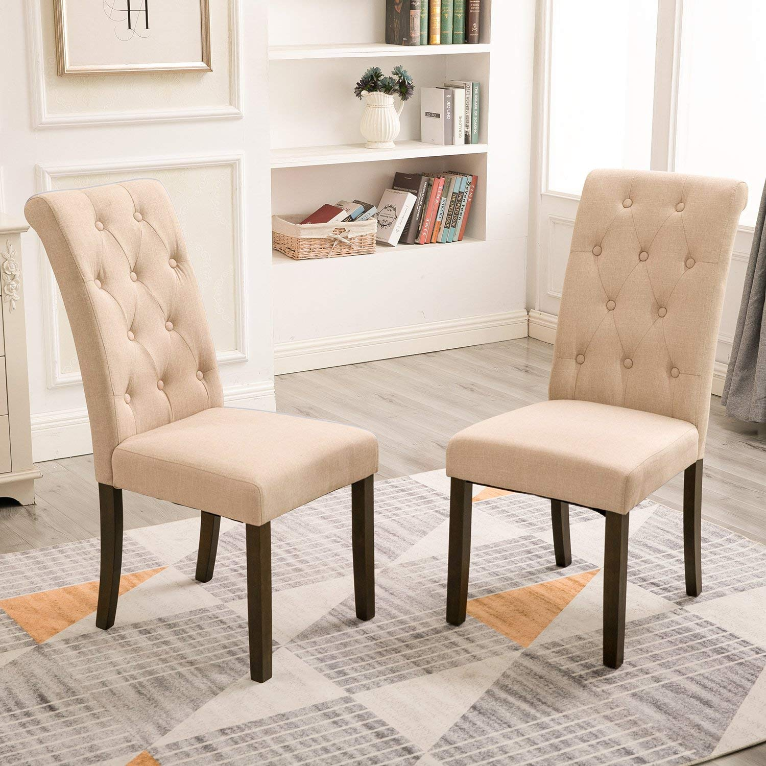 Merax Dining Chairs Dining Room Chairs Parsons Chair Kitchen Chairs Set of  4 for Home Kitchen Living Room