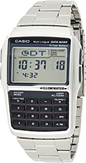 Casio Unisex-Adult Quartz Watch, Digital Display and Stainless Steel Strap DBC-32D-1A