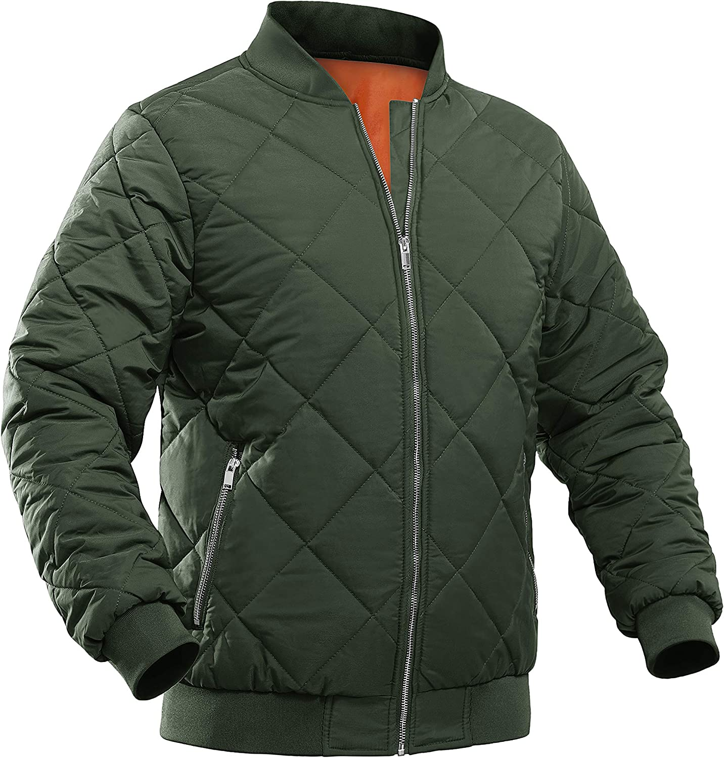 MAGCOMSEN Max 82% OFF Men's Winter Bomber Jacket Outerwear Down Zipper with High order