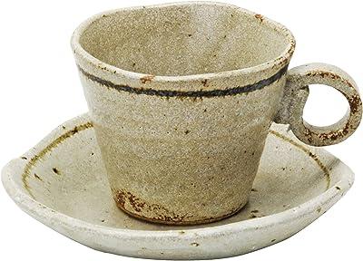 美濃焼 コーヒー碗皿 銀彩ライン 800-65-41E