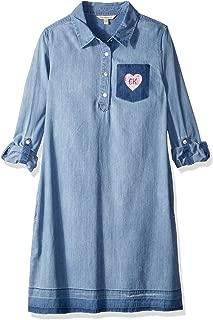 Girls' Denim Shirtdress