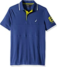 Nautica Men's Short Sleeve N83 Logo Stretch Polo Shirt