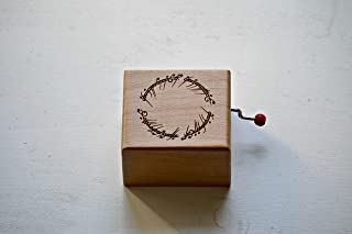 Music box inspired by the Lord of the rings and the engraving of the inscription of the ring